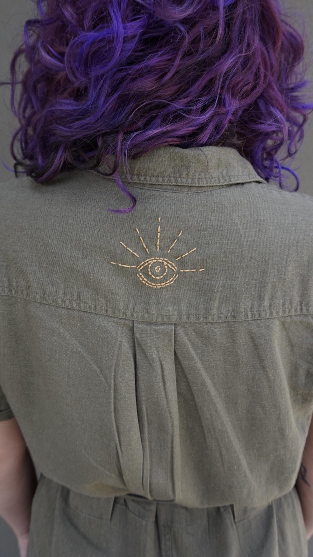eye embroidery free pattern