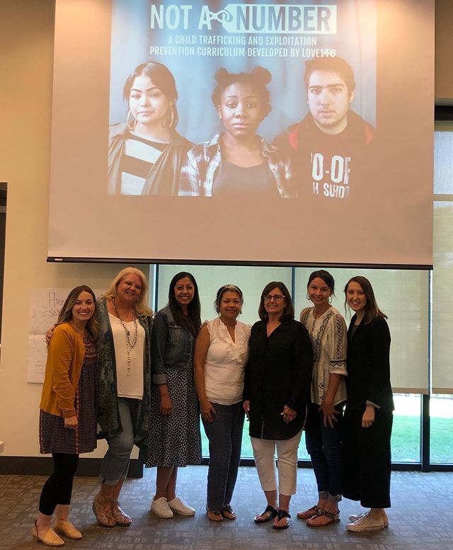 """This group joined the ranks of Unbound volunteers and staff trained to facilitate @love146's prevention curriculum, """"Not A #Number,"""" this week. This excellent curriculum is another great tool for our teams to work to prevent child sex trafficking in our communities. Thanks @love146 for this incredible resource and your diligent training!"""