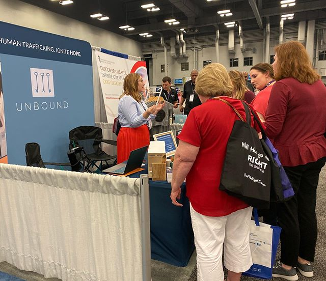 We loved connecting with so many nurses today at the ENA National Conference in Austin, Texas. Their passion for providing excellent care inspires us, and we hope they were inspired to access our training and resources to increase identification and service of human trafficking survivors. Big thanks to Texas Health HEB for sponsoring the Unbound table — these connections wouldn't have been possible without you. #ignitehope