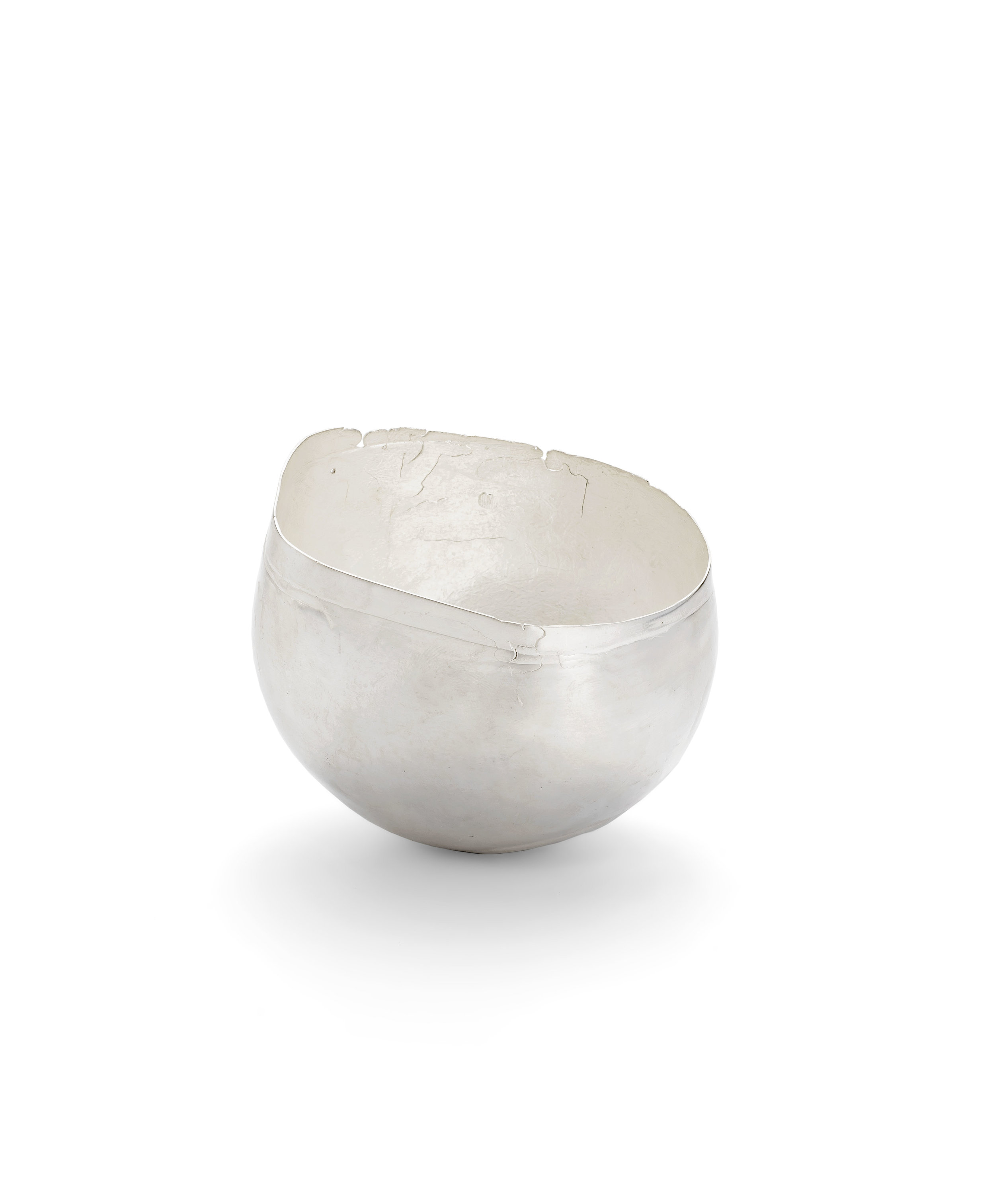 silver bowl inspired by cornish rock pools