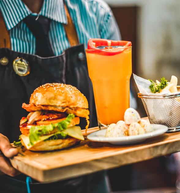 DINING - Float Away CafeThe General MuirTaquiera Del SolGrub Burger BarZoe's KitchenGoldberg's Fine FoodsDesta Ethiopian KitchenTava Indian BistroNicola's Restaurant