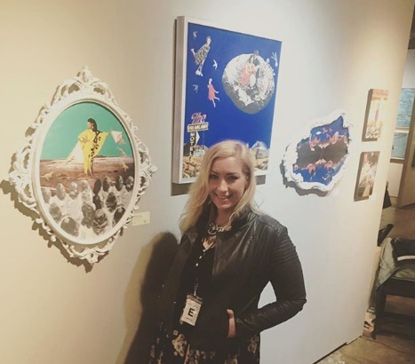 Brianne Lanigan exhibiting her work at the Superfine! Art Fair in Washington DC (2018),
