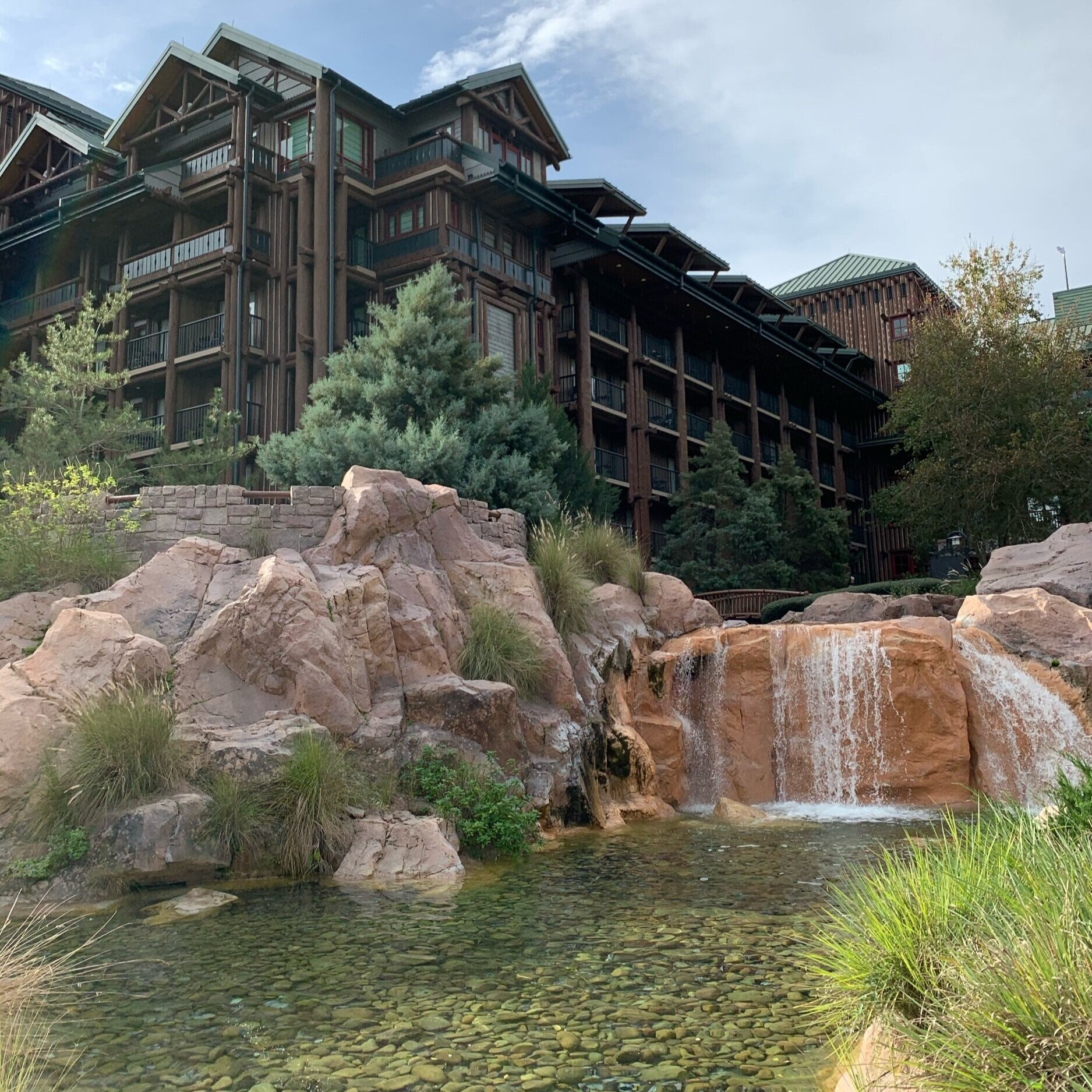 Copper Creek Falls at Disney's Wilderness Lodge