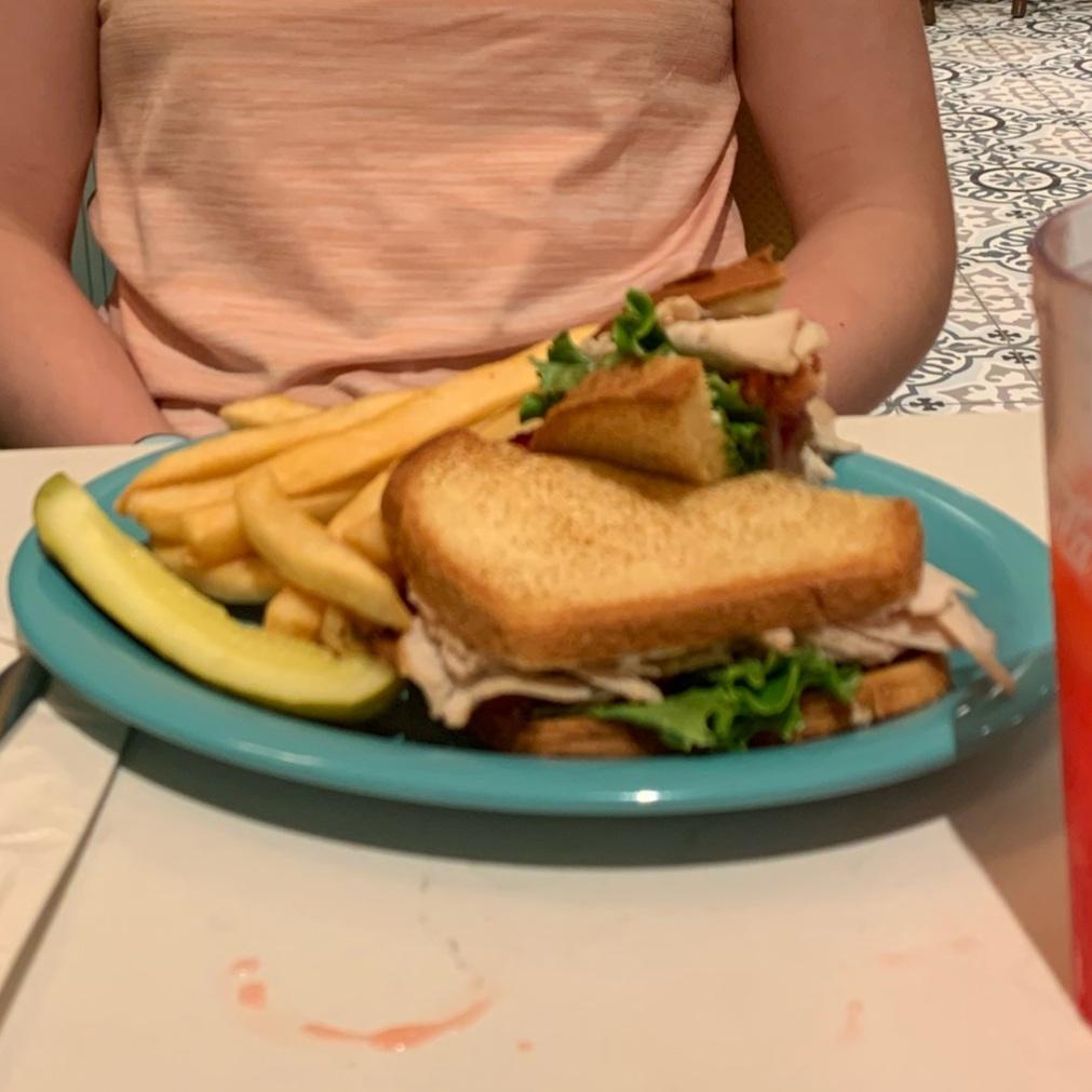 Turkey Club Sandwich at Beaches & Cream (Beaches & Cream Soda Shop)