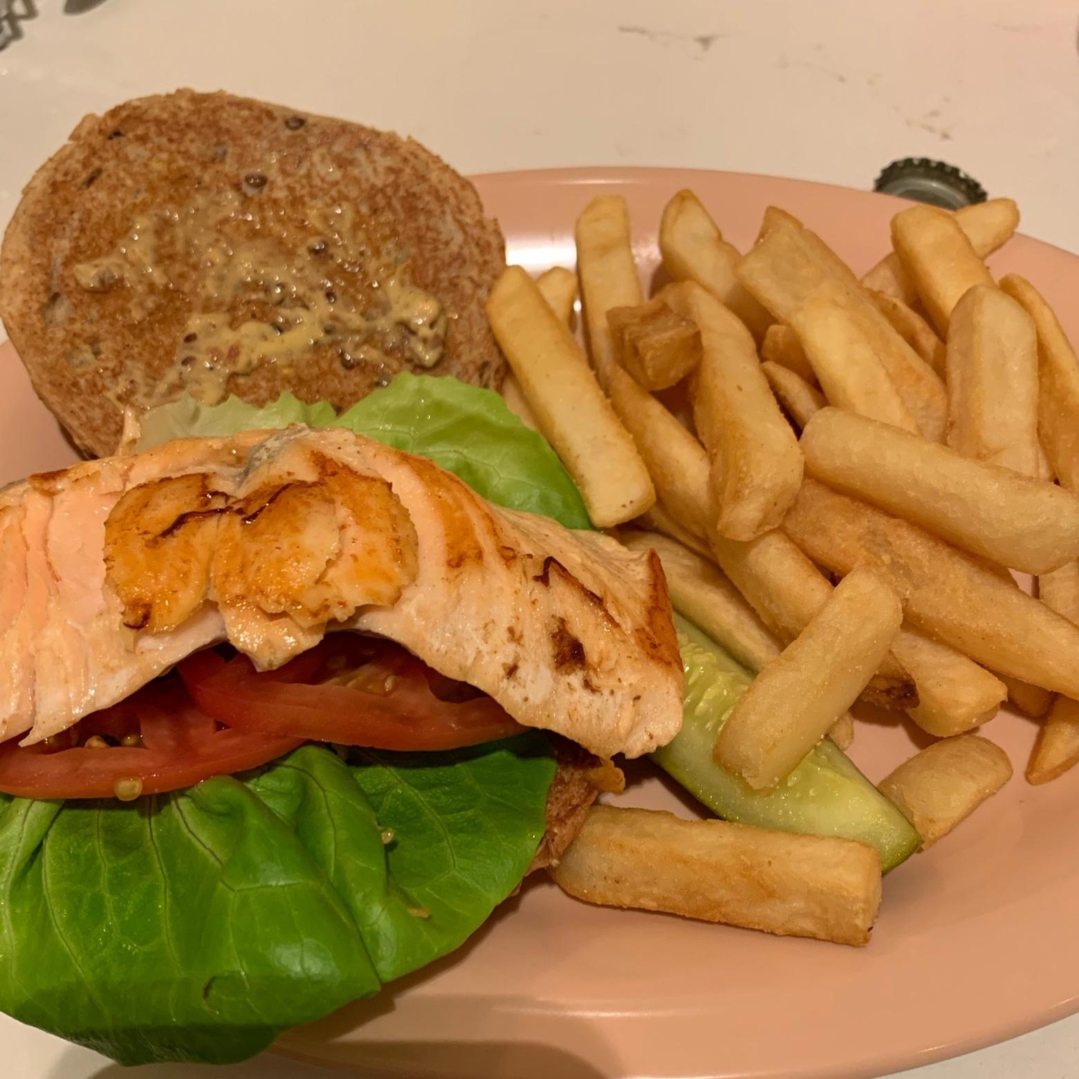 Salmon Sandwich at Beaches & Cream (Beaches & Cream Soda Shop)