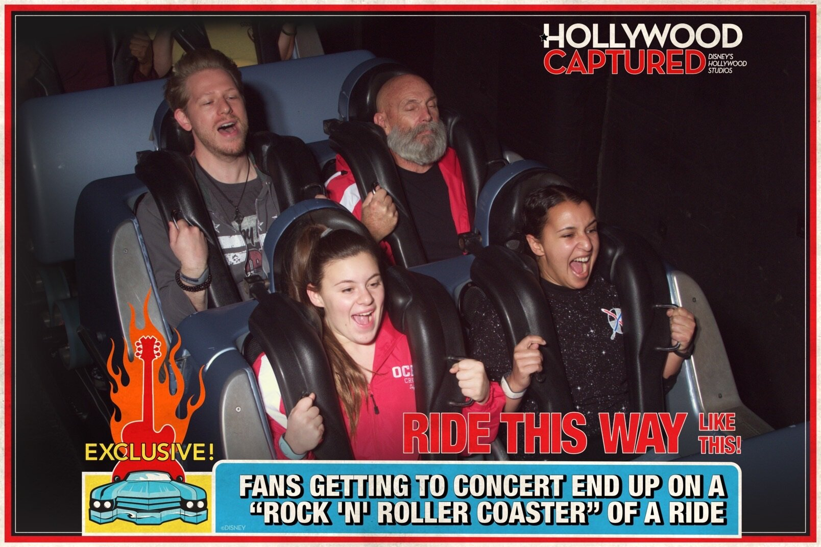 One day, I will not look terrified on Rock n' Roller Coaster at Disney's Hollywood Studios!