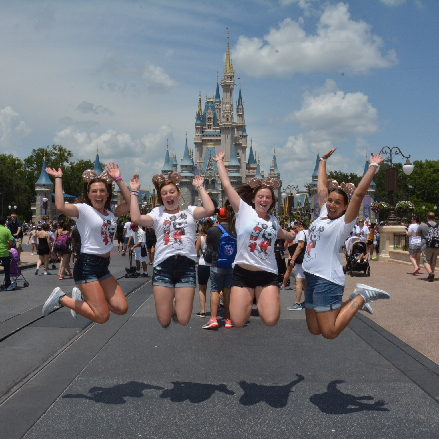 Jumping for joy in front of Cinderella Castle! (Disney's PhotoPass)