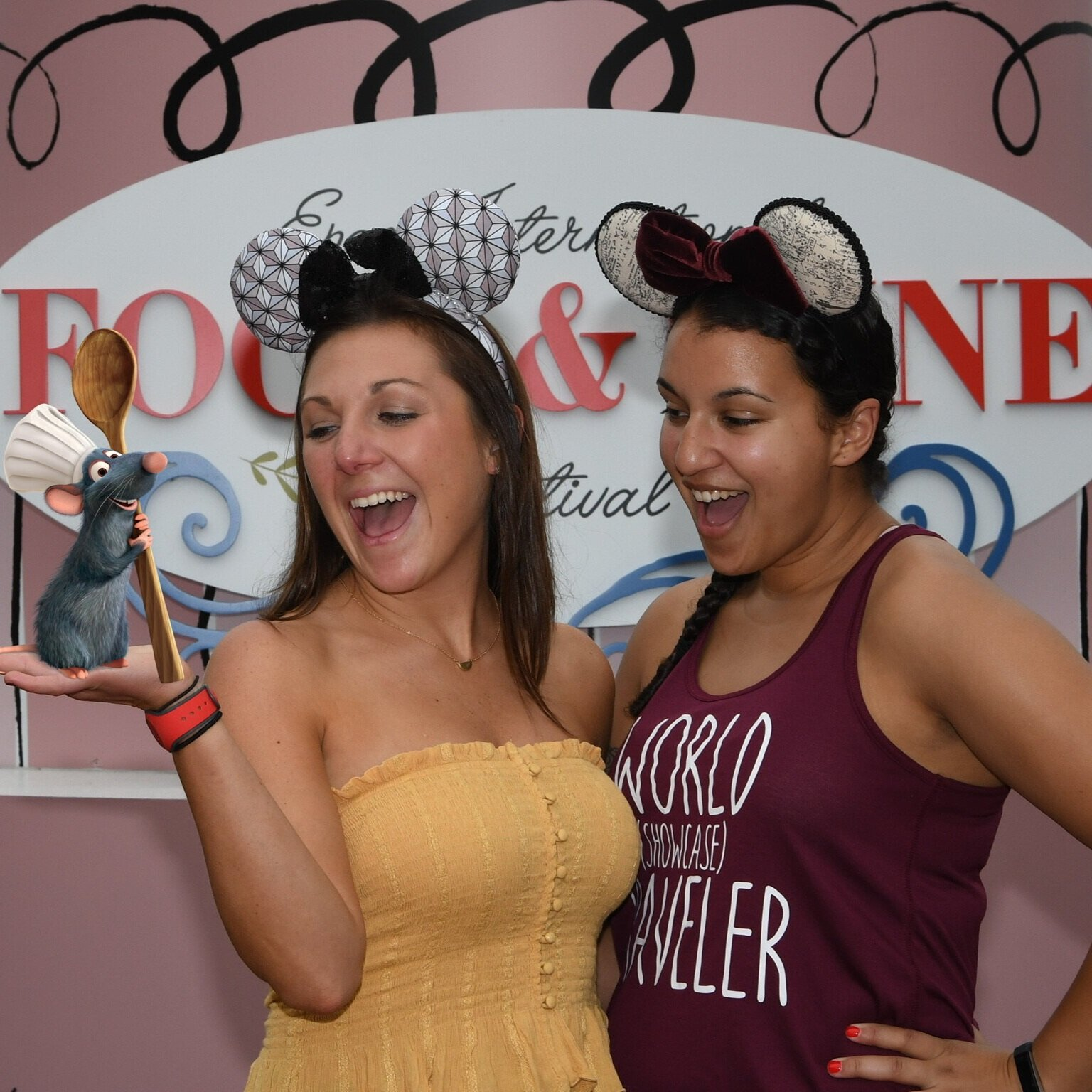 Remy joins Lauren and I for some fun at Food & Wine! (Disney's PhotoPass)