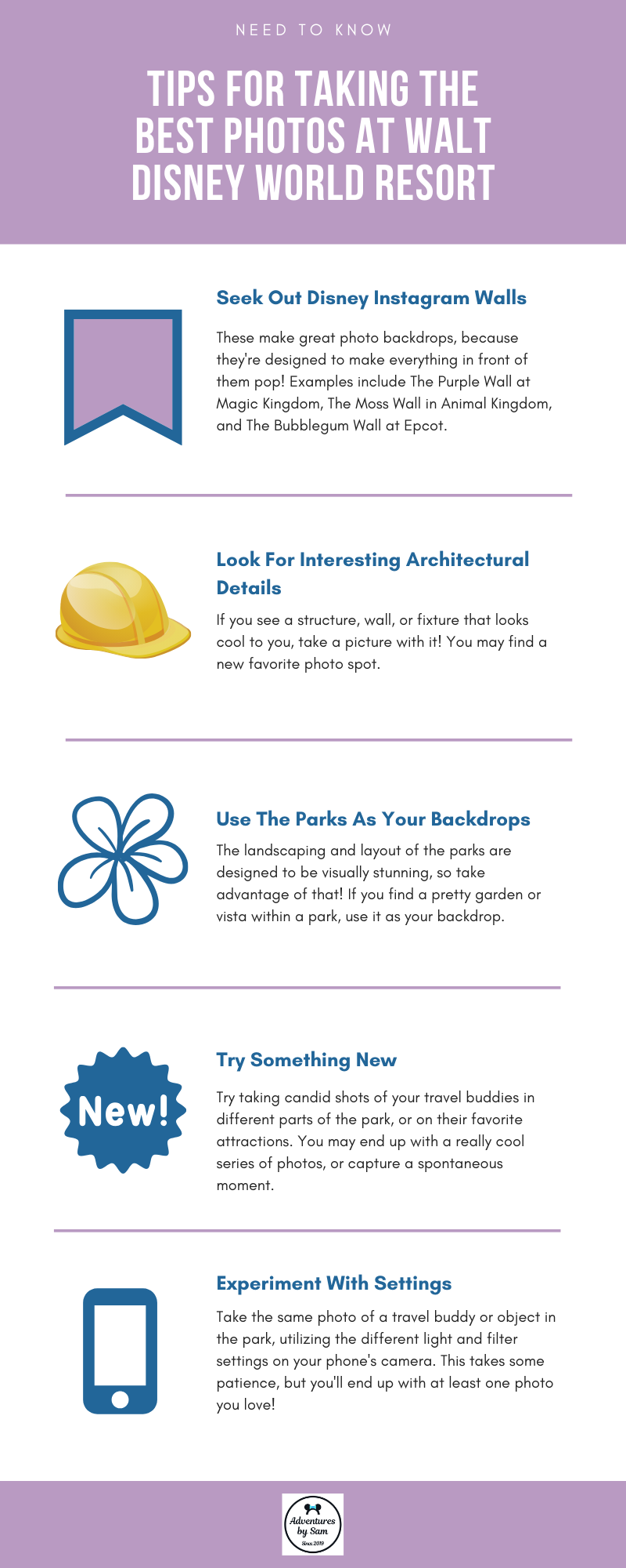 Tips for Taking the Best Photos at Walt Disney World (Infographic)