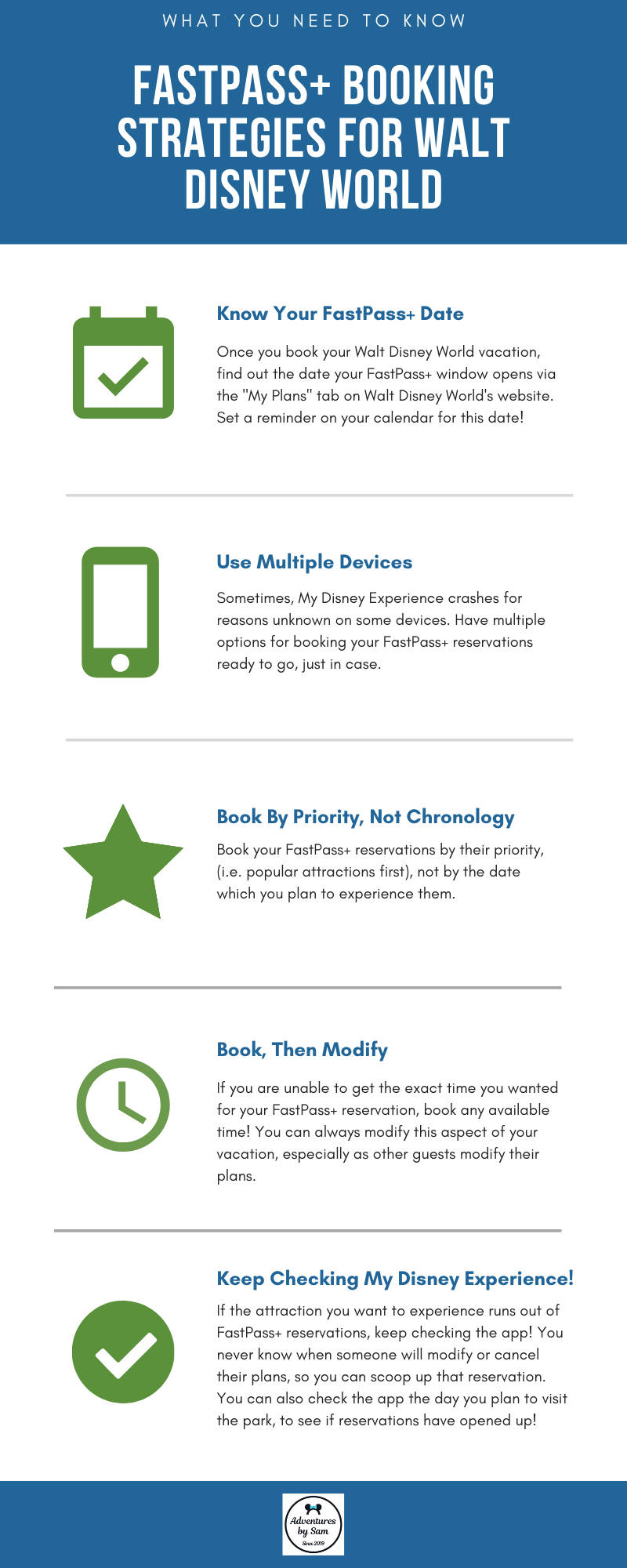 FastPass+ Booking Strategies for Walt Disney World (Infographic)