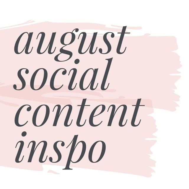 You haven't planned your August content, have you?  Are you sitting there staring at a very empty @latermedia calendar? Fear not, here's some hashtag holiday inspo to get your content juices a'flowin:  Aug 2 - #NationalColoringBookDay⠀ Aug 8 - #InternationalCatDay⠀ Aug 9 - #NationalBookLoversDay⠀ Aug 10 - #LazyDay⠀ Aug 15 - #NationalRelaxationDay⠀ Aug 16 - #NationalTellAJokeDay⠀ Aug 19 - #WorldPhotoDay⠀ Aug 20 - #NationalLemonadeDay⠀ Aug 26 - #NationalDogDay⠀ Aug 26 - #WomensEqualityDay  TIP: You don't have to make every post on these days ABOUT the day if you don't want to. Sometimes I just use the #hashtagholiday to inspire me and then create content that relates to it and chuck the hashtag in the first comment with the rest of my tags.  For example, #NationalLemonadeDay got me thinking about lemonade stands and inspired me to write about a client's entrepreneurial journey!  