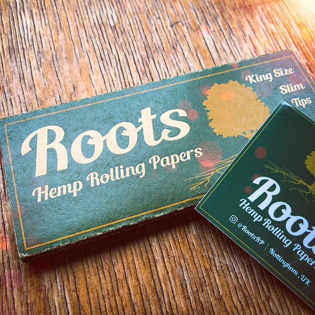 Nottingham's own @rootsrp hemp rolling papers now available £1.99. Support your local entrepreneurs! #rollingpapers #smoking #rootsrp #hemp #icenine #nottingham