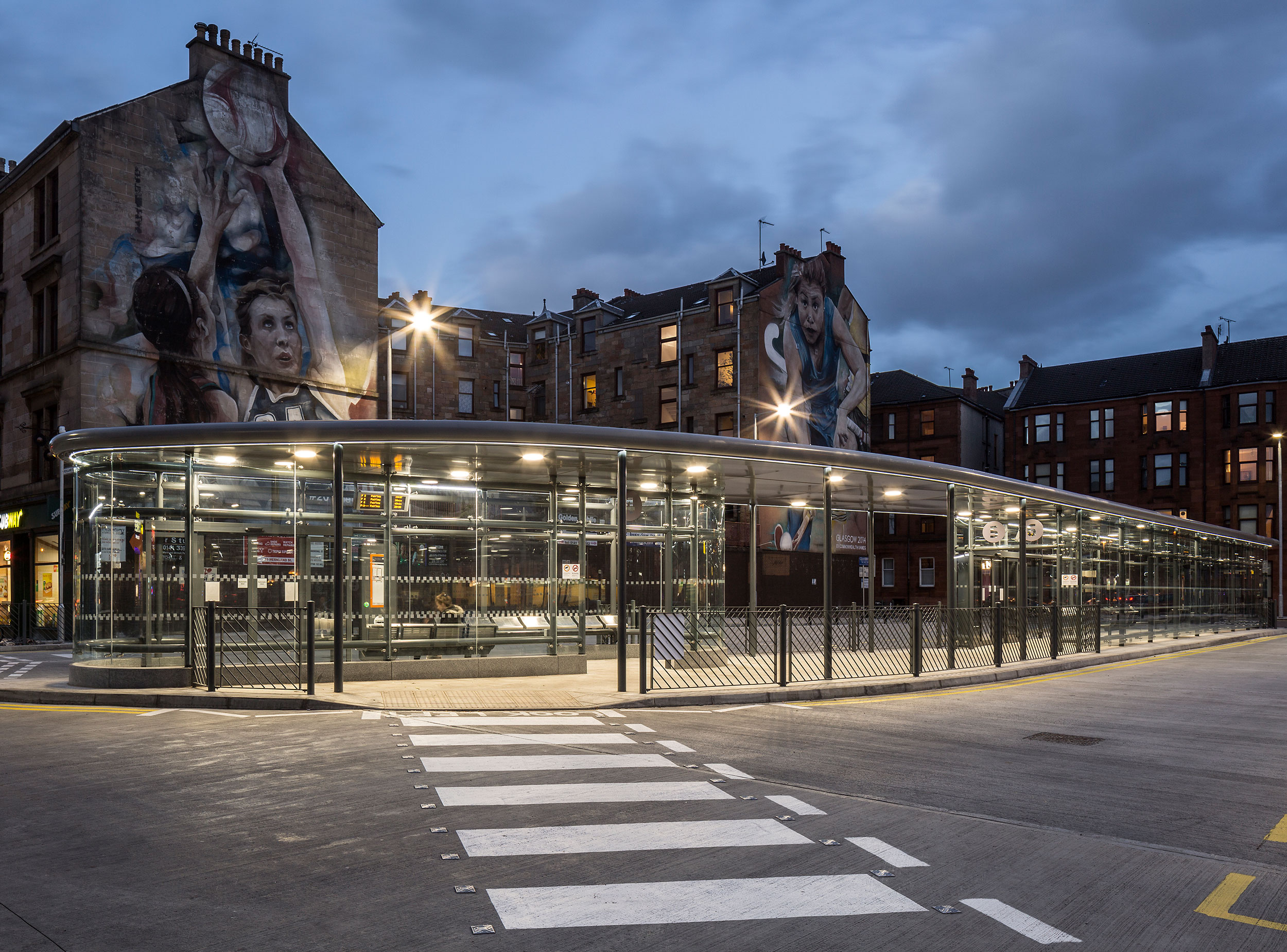 A well known spot for Glaswegians and a huge transport hub for the city, Partick Interchange a thorough refurbishment to create an increased number of bus stances to accommodate increasing passenger numbers.