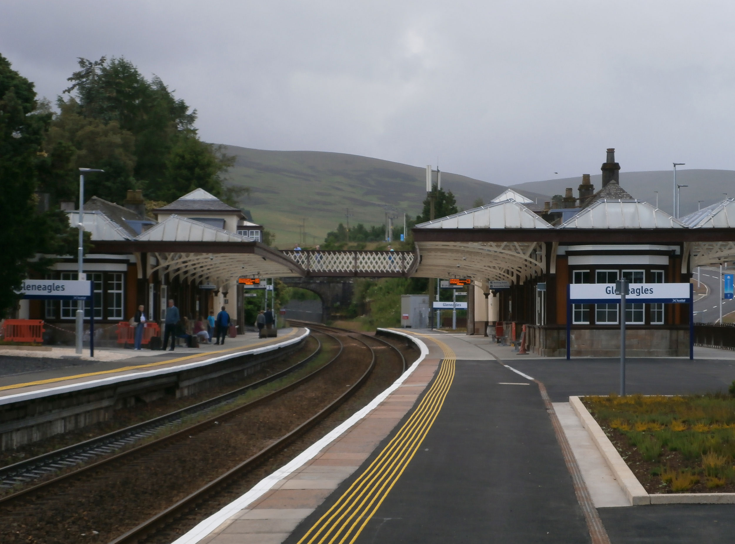 n the beautiful Perthshire countryside, Gleneagles Station is the closest transport link to the world famous Gleneagles hotel, which was the home of 2014's Ryder Cup. the station was fully refurbished and upgraded with SVM providing design advice for the lighting and DDA elements of the works.