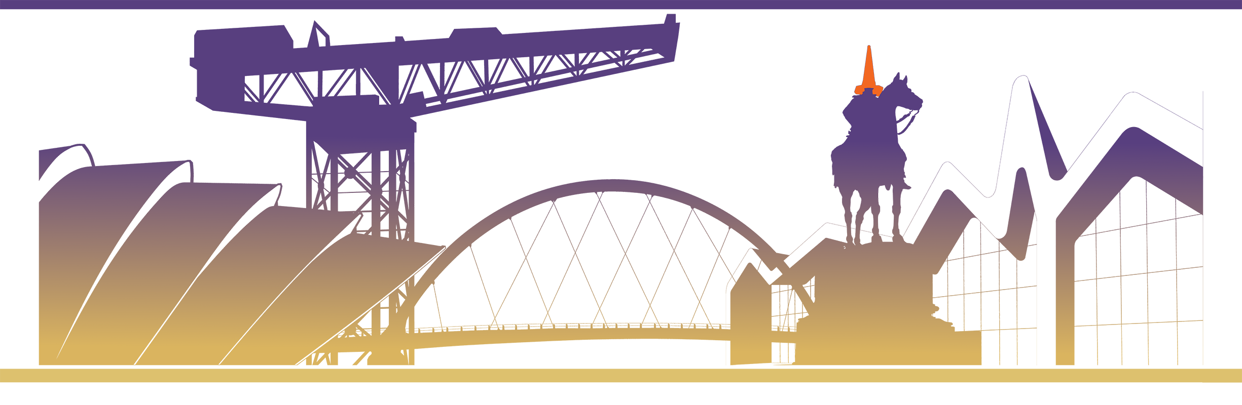 SVM Glasgow - Skyline Illustration