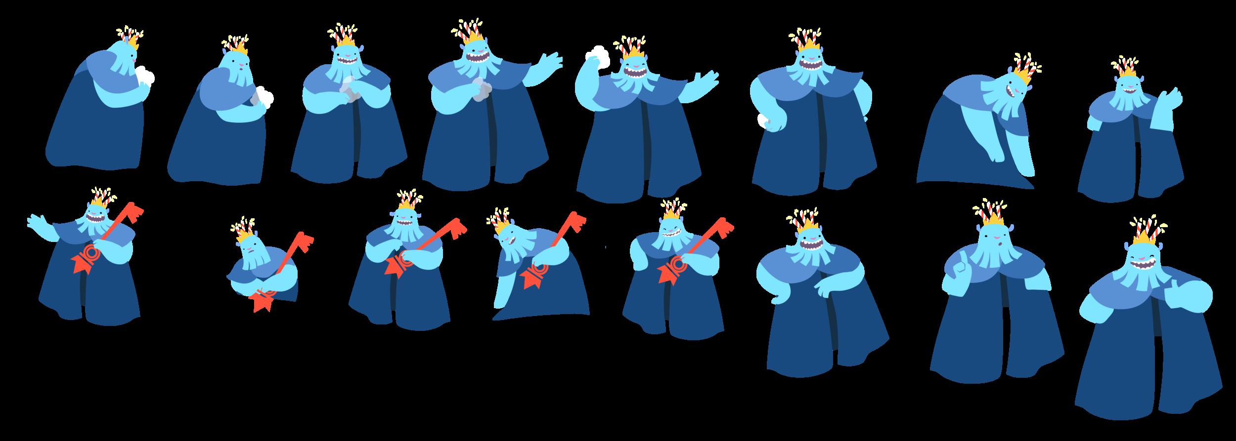King Mooman Character poses