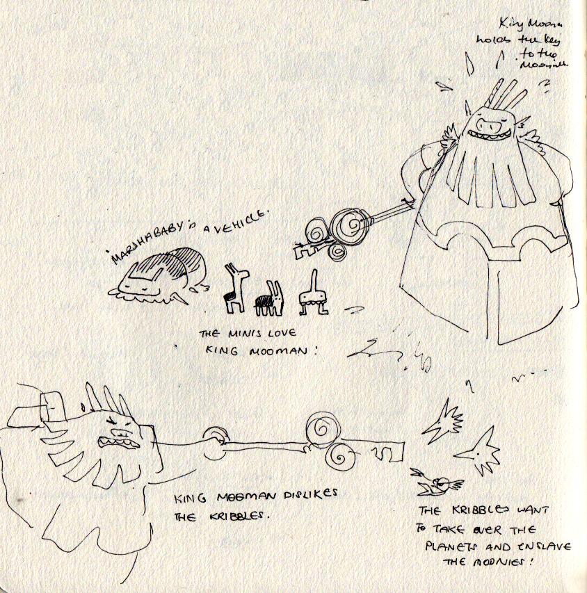 Early King Mooman and the Minis concepts