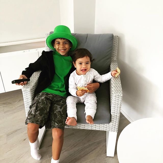 Baby #1 and baby #3 ☘️ St Patrick's Day Celebrations ☘️🎩
