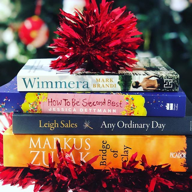 Christmas books! That's my summer reading sorted. And I only just realised they are all Aussie authors 😍📚 @mb_randi @lifewithgusto @leigh_sales @markuszusak @hachetteaus @harpercollinsaustralia @macmillanaus