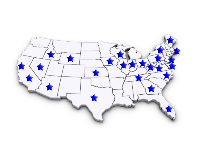 Locations in USA of In-Office Pathology Labs for Physician's Medical Practice