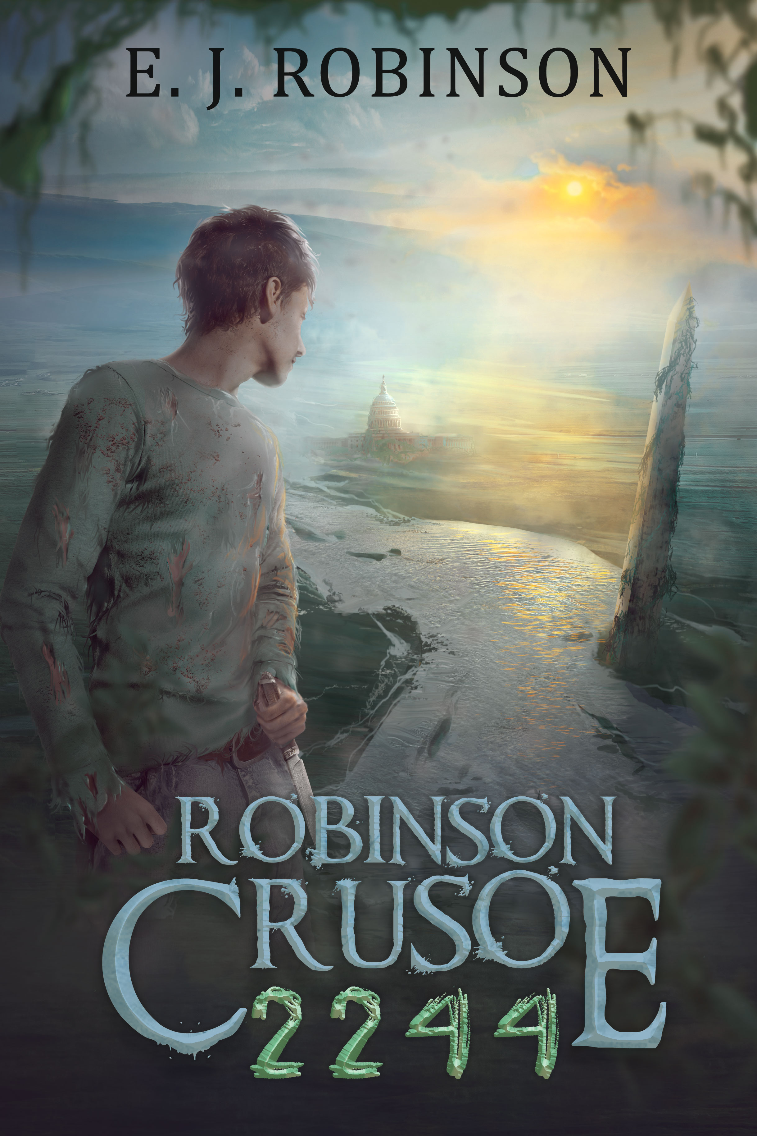 Robinson Crusoe 2244 - Two centuries after mankind drove itself to the brink of extinction, a new civilization rises from the ashes of what was once Great Britain. But when deadly strife breaks out among their ranks, the teenage son of one prominent family finds himself fleeing in the dead of night only to wind up shipwrecked on the forbidden continent of America. Armed with only his wit and the most unexpected of allies, the teenager struggles to survive in a wasteland filled with unspeakable horrors and in the end must uncover the one secret that can save his own people or spell doom for mankind forev