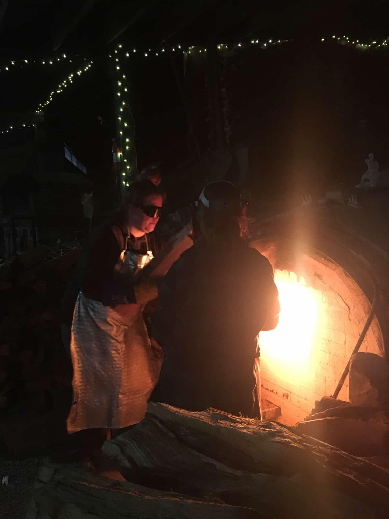 Firing While Female East Creek Anagama 2019 fire early.jpg