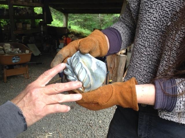 #FiringWhileFemale East Creek Anagama 2019 unload @turningearthstudios.JPG
