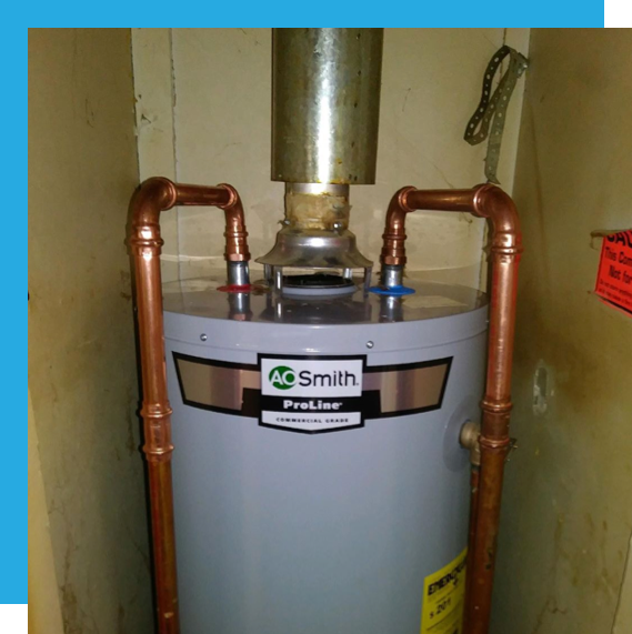 Hudson Plumbing specializes in water heater installations.
