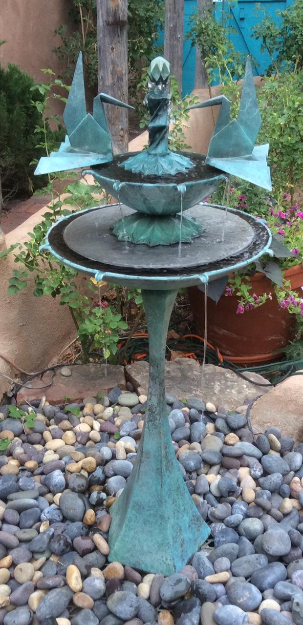 Fan Wing Crane Fountain