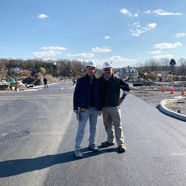 Joe Kirchhoff and Giovanni Palladino celebrating our newly paved Eastdale Avenue & new traffic light! Who else is excited for all our amazing (and local) commercial users to move in?! 🛍🍷🏡#liveworkplay #newdevelopment #luxuryliving #modernliving #eastdalevillage #newtowncenter #poughkeepsie #hudsonvalley #hudsonvalleyeats #hudsonvalleyny