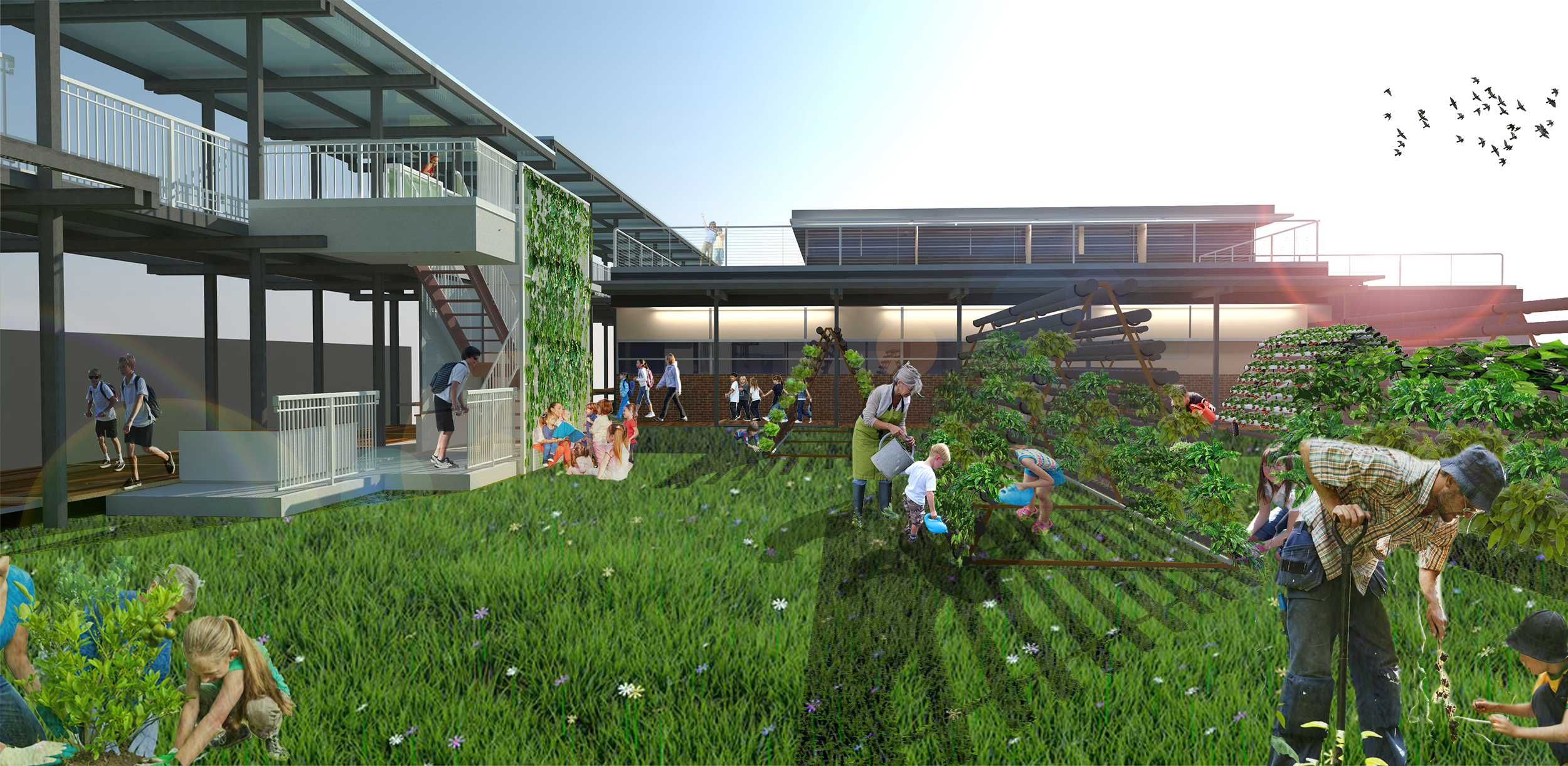 Conceptual ideas provided by University of Louisiana at Lafayette Architecture Students