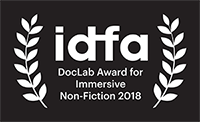 """Our online existence on a futuristic platter. A hilariously silly, pseudo religious and meticulously designed installation.""   — IDFA DOCLAB IMMERSIVE NON-FICTION JURY"
