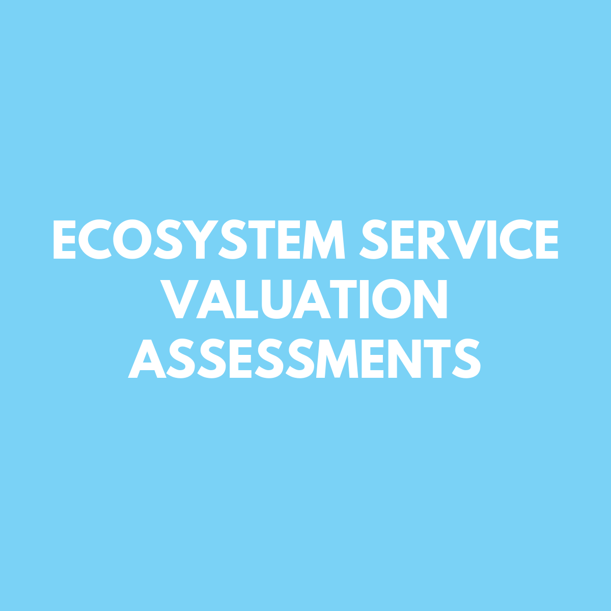 Ecosystem Service Valuation Assessment