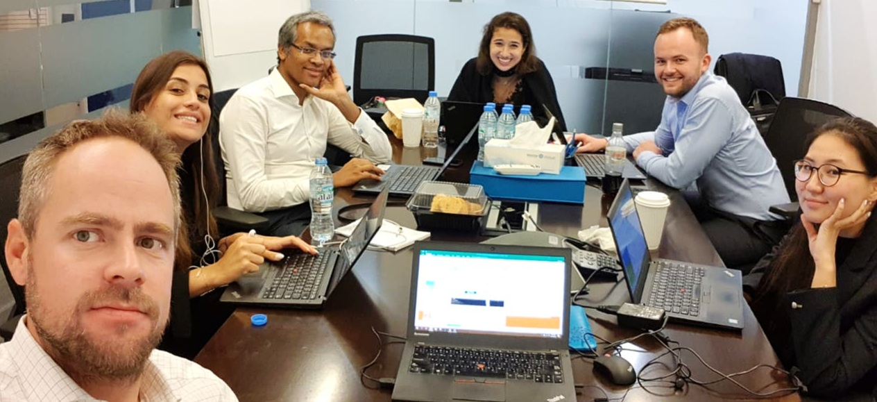 Late night work with project team for Global Sustainability prize