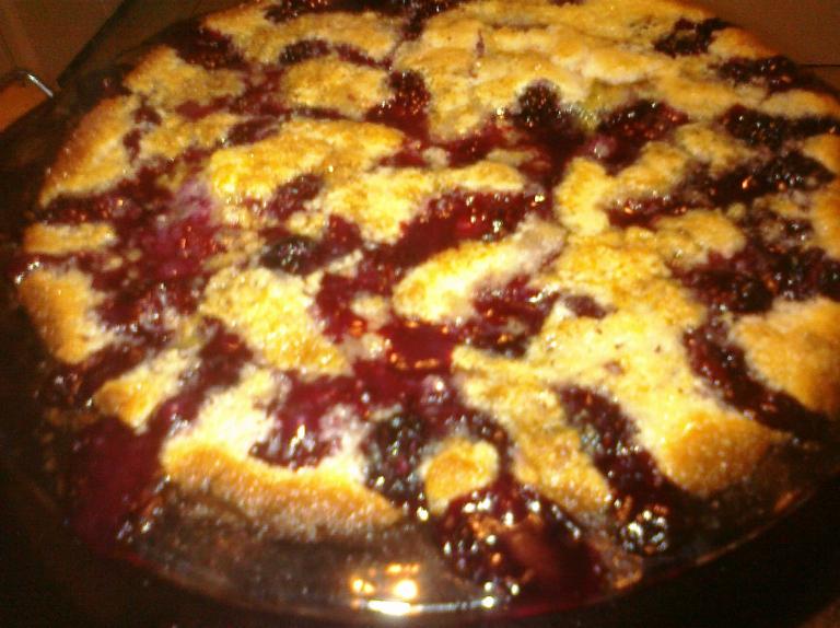 Blackberry Crazy Crust Pie!