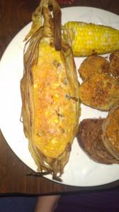 Alabama tamales and Fried Greens.