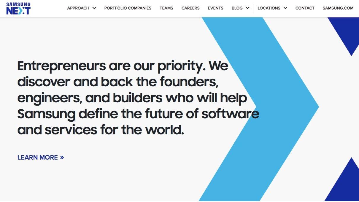 Samsung Next  | Messaging - Content Strategy - Copywriting