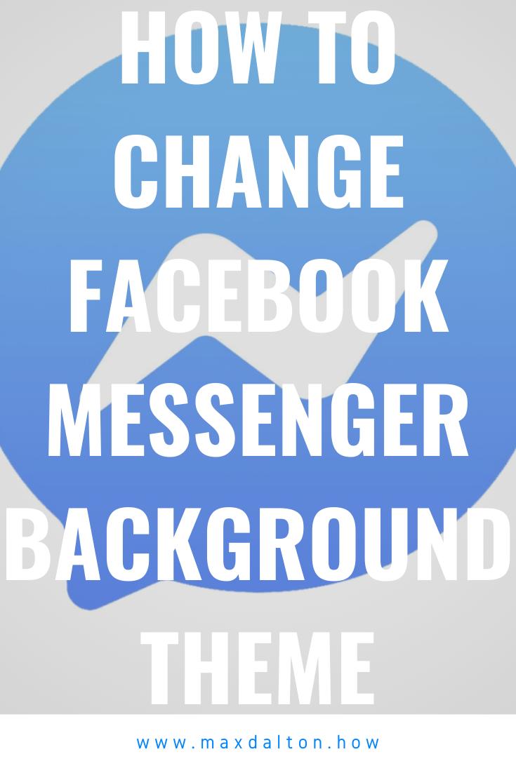 How To Use Facebook Messenger Room Virtual Background Max Dalton Tutorials