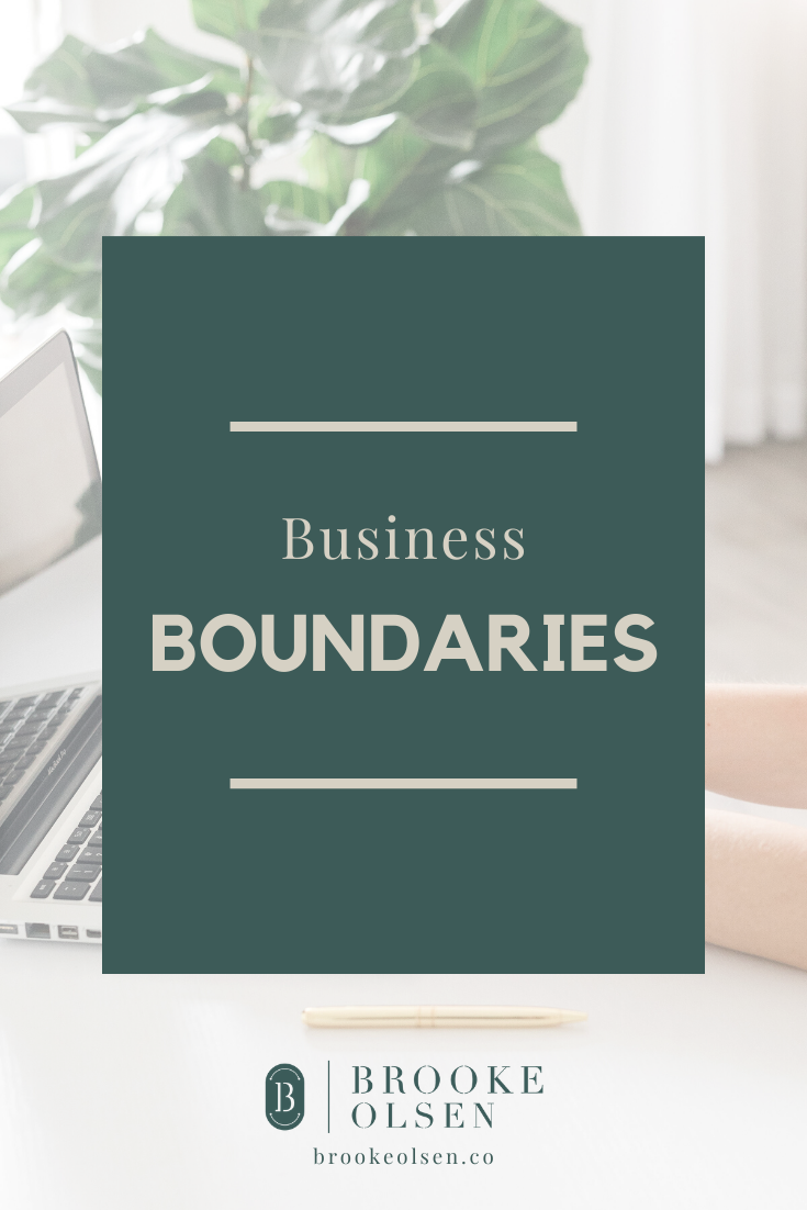Business boundaries are such a hot topic in the entrepreneur world, and they don't seem super important until you're faced with a tough client situation. This post covers why you need boundaries in your business and some ways to establish those boundaries. #businesscoach #businesstips