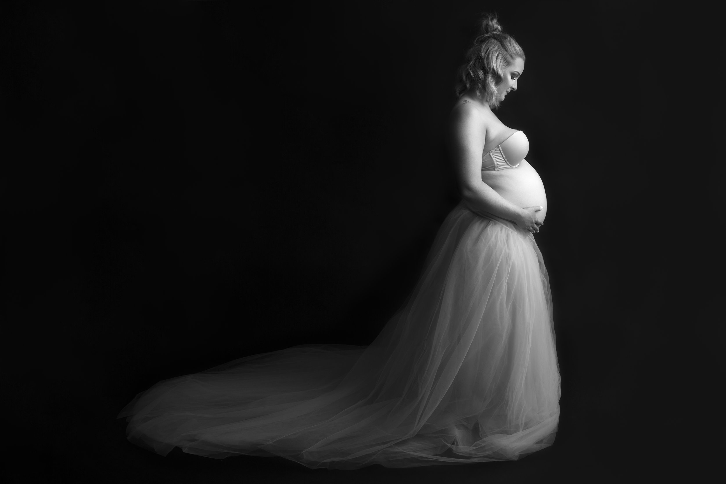 Silver Package $450 - - Includes a 1 hour photography session in my home studio or on location with use of Maternity gowns. ($30 extra for location sessions)- 20 edited high res images via online gallery