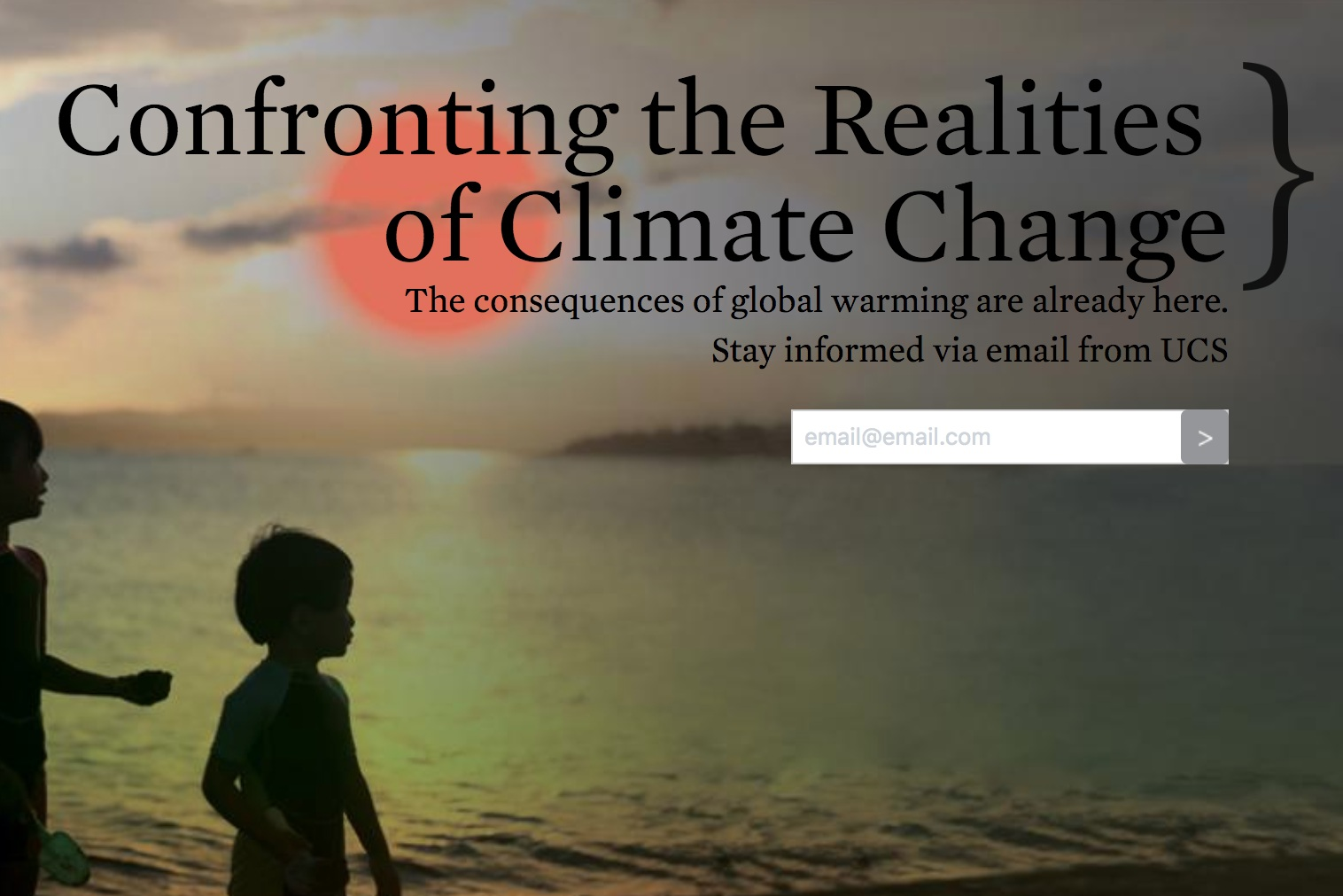 - Union of Concerned Scientists' Global Warming Webpage