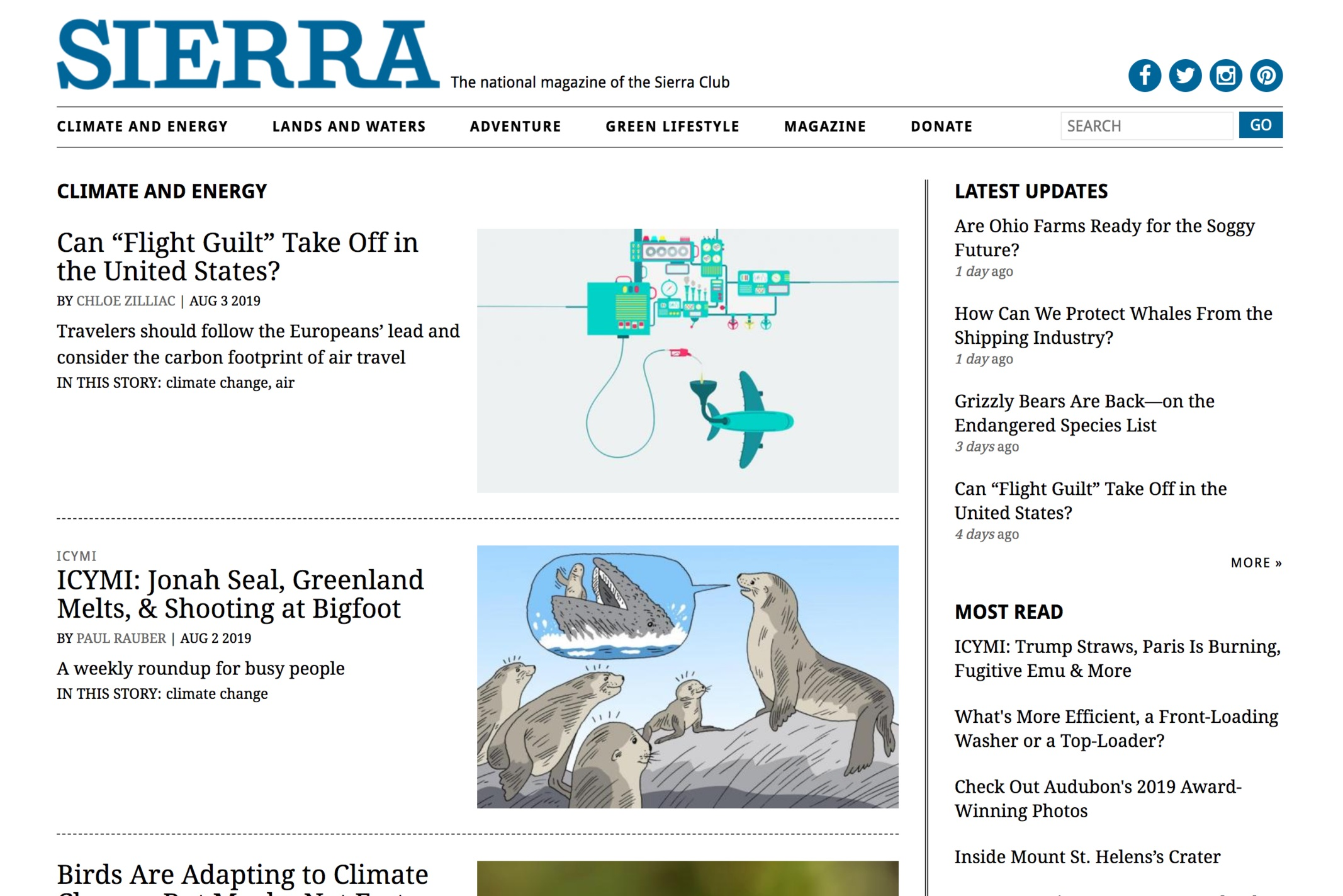 - Sierra Club's Climate and Energy Webpage