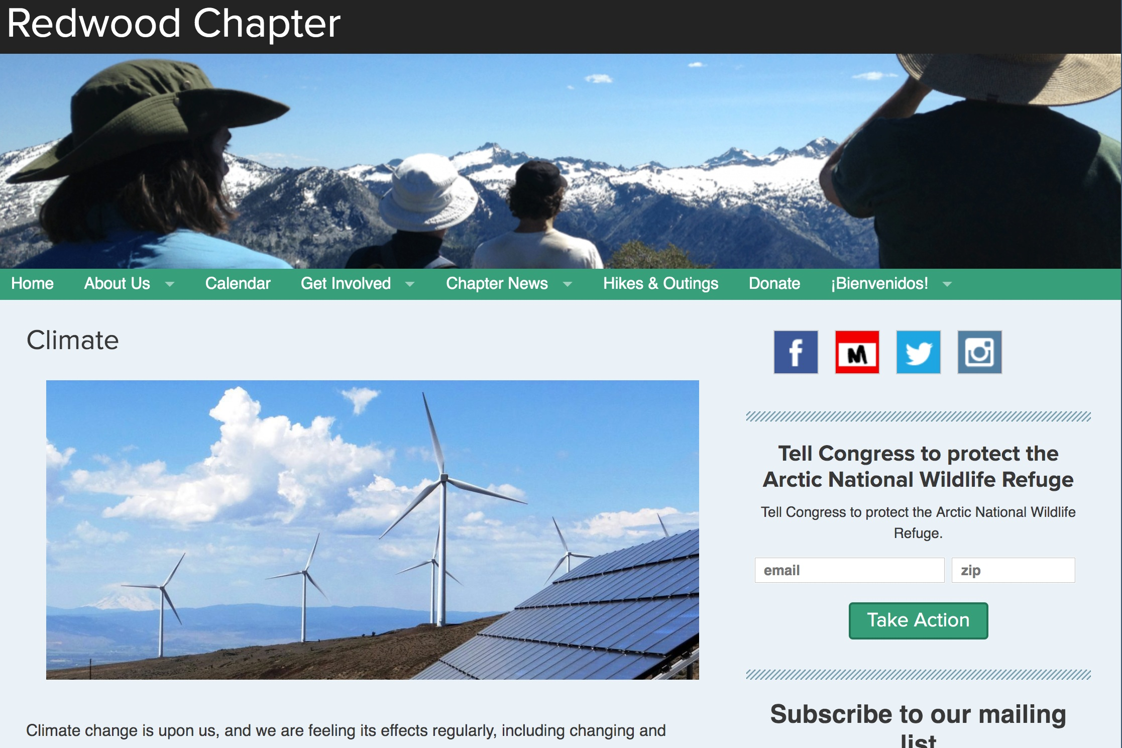 - Sierra Club Redwood Chapter's Climate Webpage