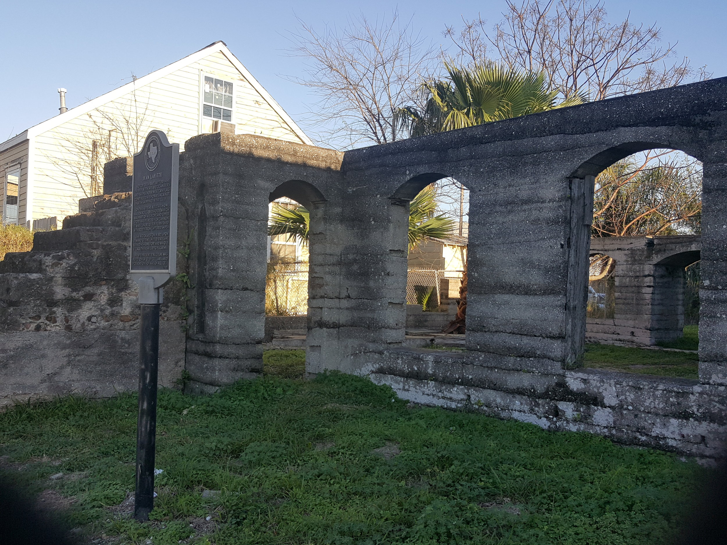 Though the current ruins date from a later time, it is believed that they were built over the cellar of Maison Rouge, Jean Lafitte's home.