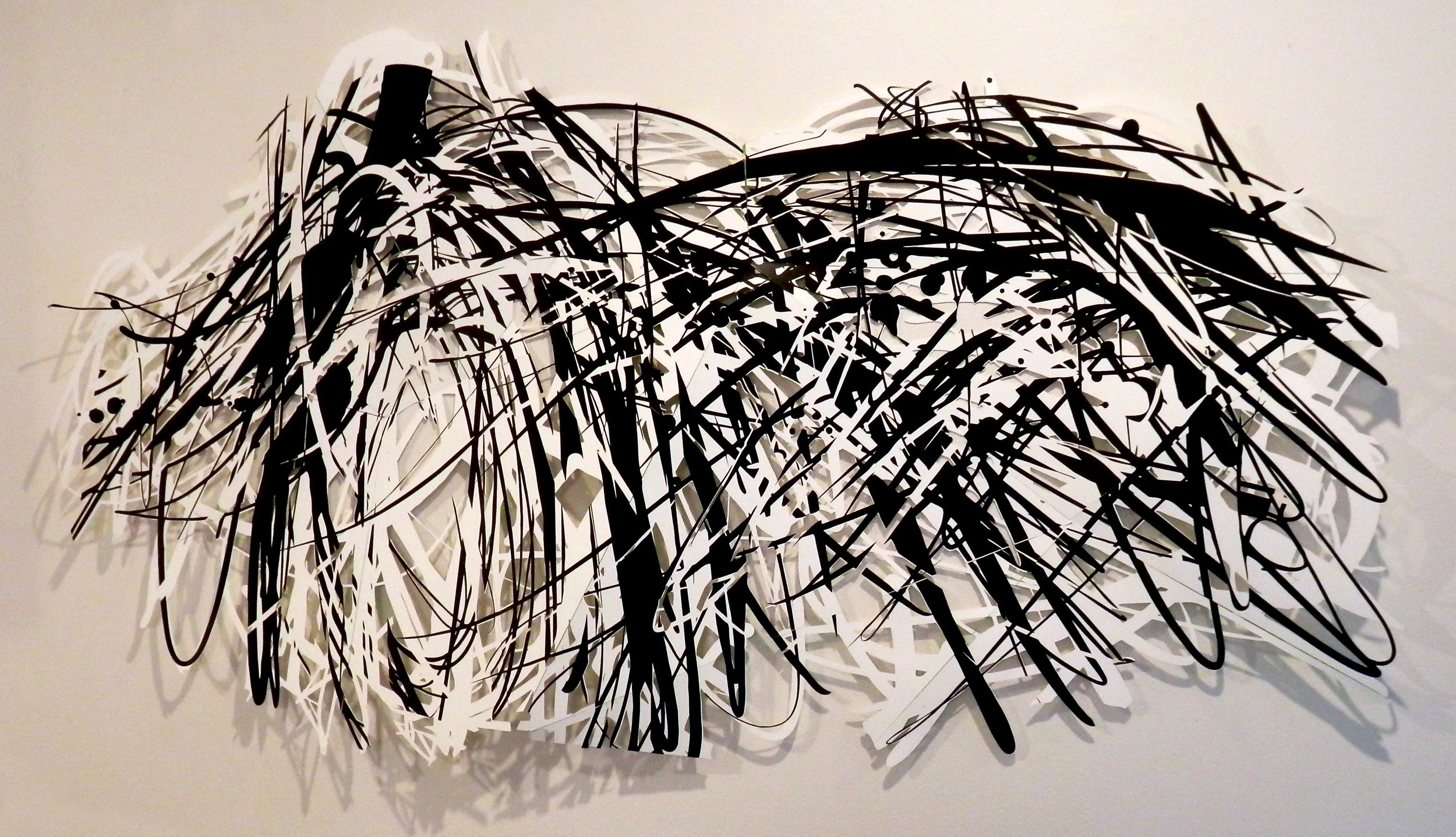 """""""Carbon Copy"""" 2016, cut paper and vinyl"""
