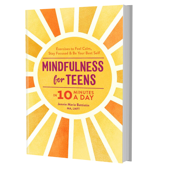 "New Book ""MINDFULNESS FOR TEENS"" by Jennie Marie Battistin.    Available on AMAZON."