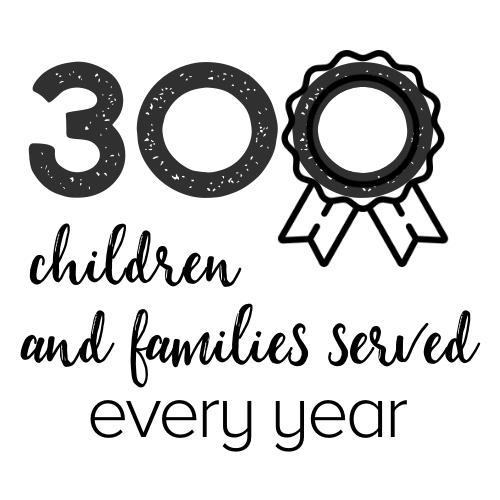 300 families served every year graphic