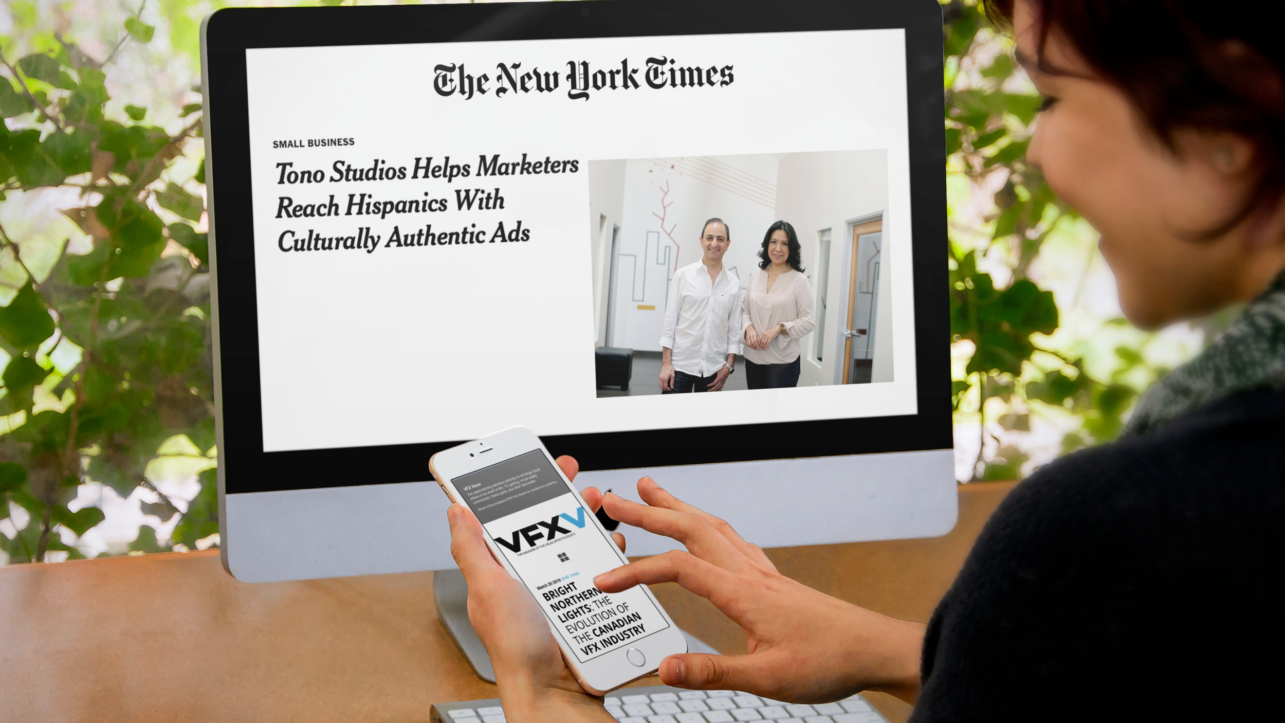 (Clients Artifex Studios in VFXV and Tono Studios in the New York Times)
