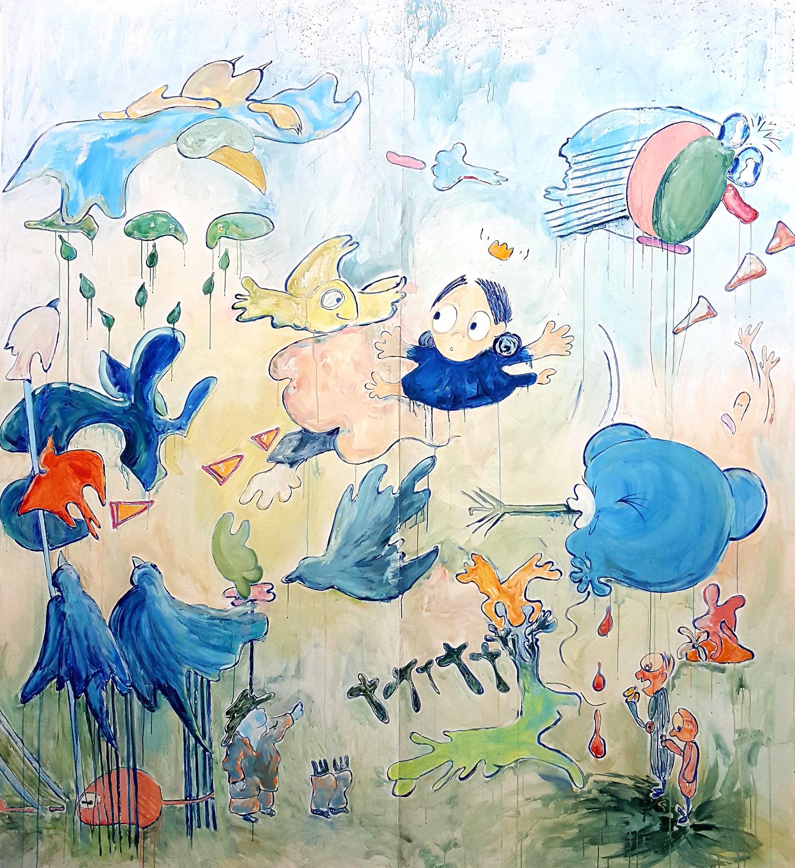 "Khatia Esartia,  Descend  (2018). Photo courtesy of Marisa Newman     11. ""Khatia Esartia Ich habe meinen Regenschirm vergessen (I have forgotten my umbrella)"" at Marisa Newman   Inspired by a quote from an unpublished Friedrich Nietzsche manuscript, Khatia Esartia presents watercolors on vellum, gouache works on panel, and a monumental wallpaper painting.   Location:  Marisa Newman, 38 West 32nd Street, Suite 1602  Price:  Free  Time:  Wednesday–Friday, 1 p.m.–6 p.m.   —Sarah Cascone    https://news.artnet.com/art-world/editors-picks-july-9-1304870"