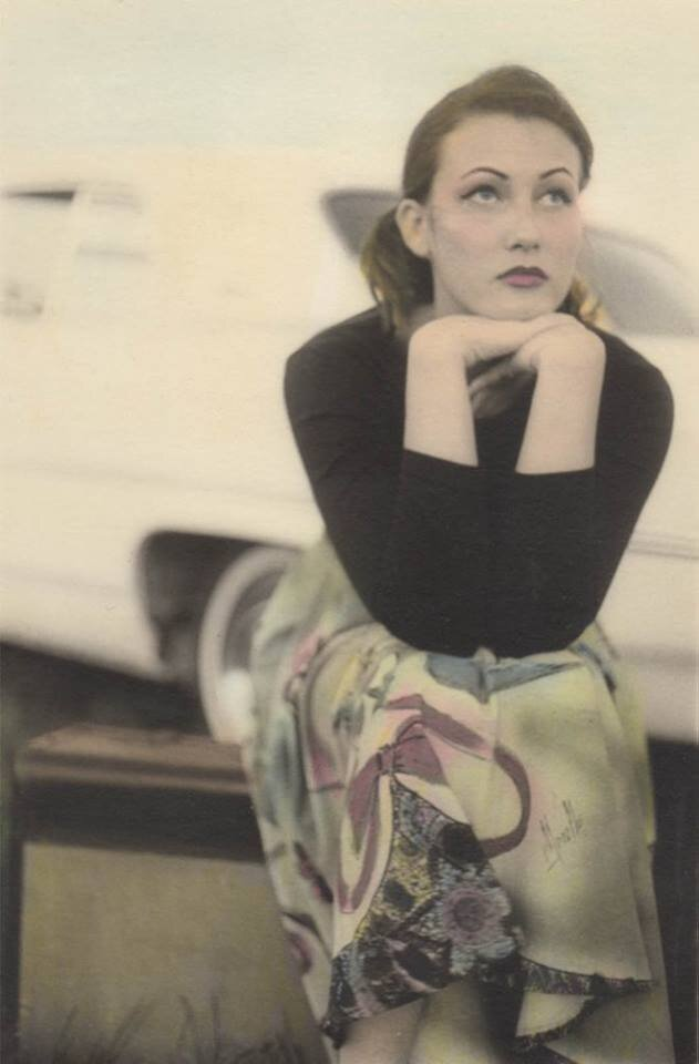 Audrey from the 'Beating a Dead Horse' series, 1999. Hand-colored silver gelatin print.